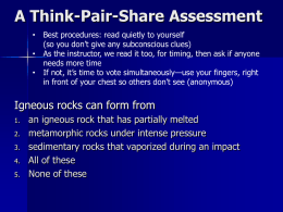 A Think-Pair-Share Assessment