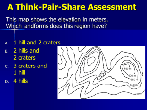 A Think-Pair-Share Assessment This map shows the elevation in meters.