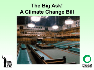 The Big Ask! A Climate Change Bill