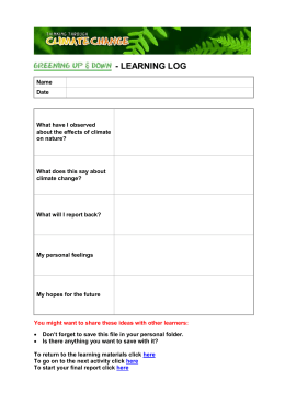 - LEARNING LOG