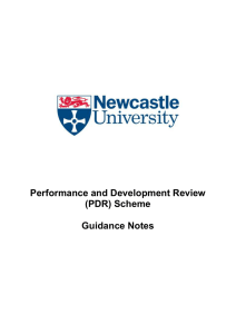 Performance and Development Review (PDR) Scheme  Guidance Notes