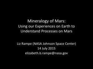 Mineralogy of Mars: Using our Experiences on Earth to