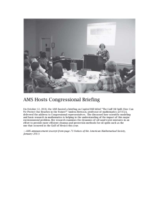 AMS Hosts Congressional Briefing