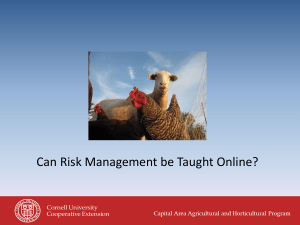 Can Risk Management be Taught Online?
