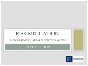 RISK MITIGATION IN EDIBLE HORTICULTURAL PRODUCTION SYSTEMS