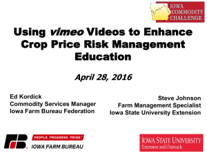 vimeo Using Videos to Enhance Crop Price Risk Management
