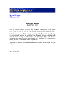 News Release  23 December 2011 BANKING HOURS