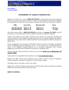 GOVERNMENT OF JAMAICA TREASURY BILL News Release 23 January 2009