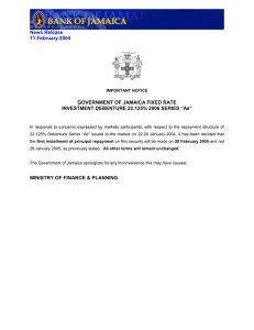 News Release 11 February 2004 GOVERNMENT OF JAMAICA FIXED RATE