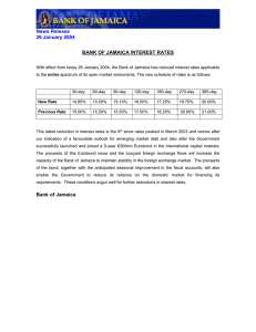News Release 26 January 2004  BANK OF JAMAICA INTEREST RATES