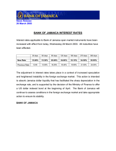 BANK OF JAMAICA INTEREST RATES
