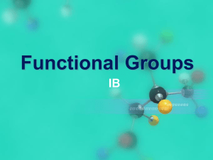 Functional Groups IB