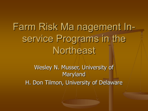 Farm Risk Ma nagement In- service Programs in the Northeast