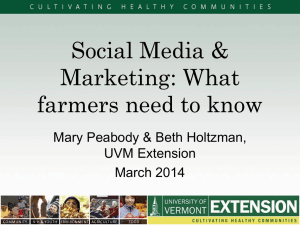 Social Media & Marketing: What farmers need to know