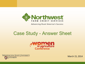 Case Study - Answer Sheet March 15, 2014