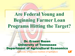 Are Federal Young and Beginning Farmer Loan Programs Hitting the Target?