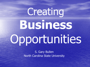 Business Opportunities Creating S. Gary Bullen