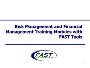 Risk Management and Financial Management Training Modules with FAST Tools 1