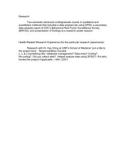 Research  Two-semester advanced undergraduate course in qualitative and