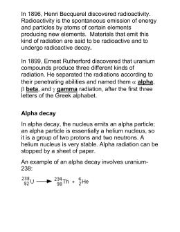 radioactivity essay