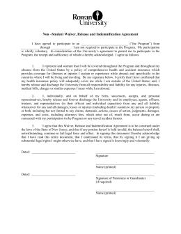 Lab Monitor Agreement Form