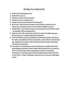 10 Steps To A Federal Job