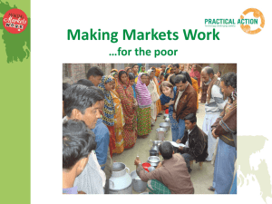 Making Markets Work …for the poor