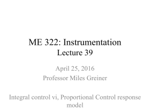ME 322: Instrumentation Lecture 39 April 25, 2016 Professor Miles Greiner