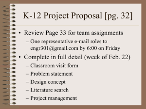 K-12 Project Proposal [pg. 32]