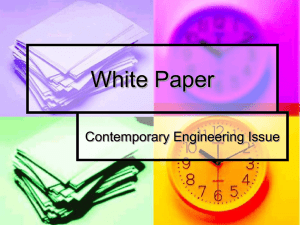 White Paper Contemporary Engineering Issue