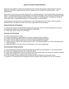Approver/Auditor Responsibilities