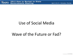Use of Social Media Wave of the Future or Fad?