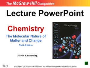 Lecture PowerPoint Chemistry The Molecular Nature of Matter and Change