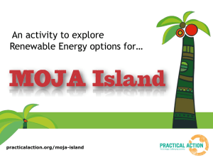 An activity to explore Renewable Energy options for… practicalaction.org/moja-island