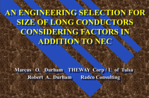 AN ENGINEERING SELECTION FOR SIZE OF LONG CONDUCTORS CONSIDERING FACTORS IN