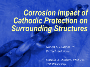 Corrosion Impact of Cathodic Protection on Surrounding Structures Robert A. Durham, PE
