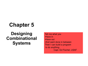 Chapter 5 Designing Combinational Systems