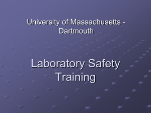 Laboratory Safety Training University of Massachusetts - Dartmouth
