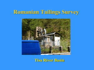 Romanian Tailings Survey Tisa River Basin