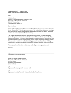 Sample letter for CPT Approval/Grad Please print on Department Letterhead  Date