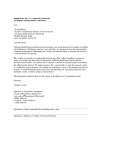 Sample letter for CPT Approval/Undergrad Please print on Department Letterhead  Date