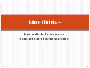 Blue Light Emergency Phone Info