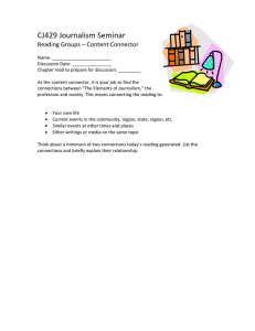 CJ429 Journalism Seminar Reading Groups – Content Connector