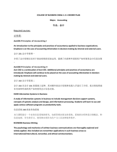Required courses: 必修课: