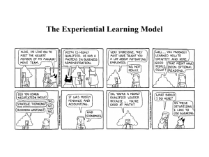The Experiential Learning Model