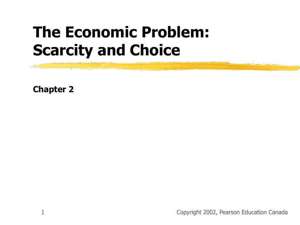 problem of scarcity