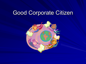 Good Corporate Citizen