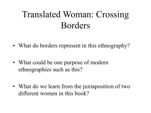 Translated Woman: Crossing Borders