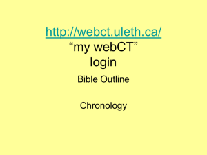 """my webCT"" login Bible Outline"