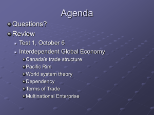 Agenda Questions? Review Test 1, October 6